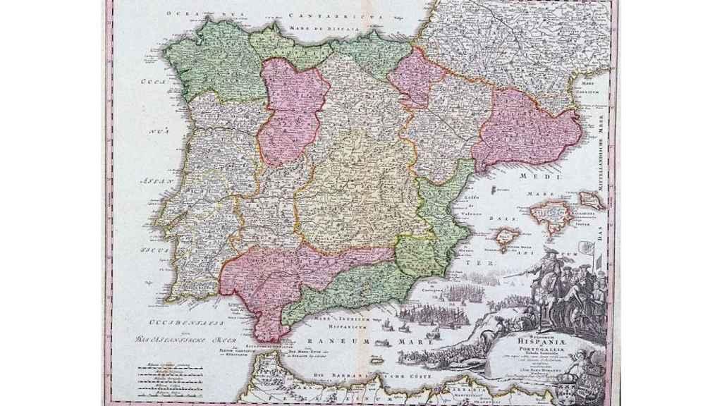 Mapa de España en 1710/ Wikimedia Commons