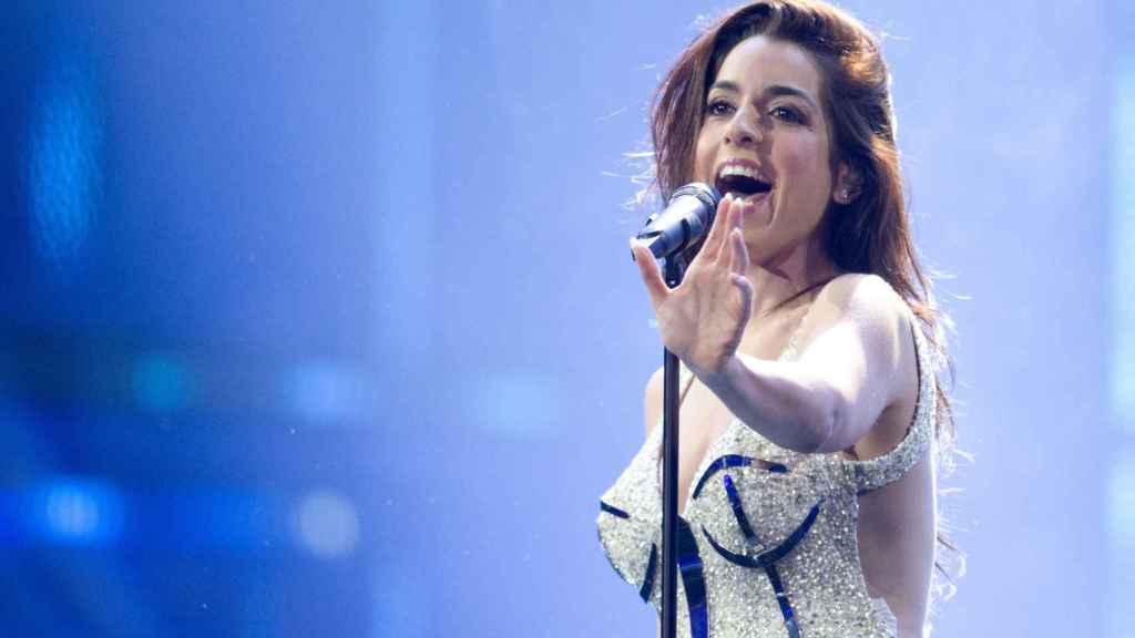 Ruth Lorenzo en los ensayos de Eurovisión.