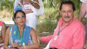 Isabel Pantoja y Julián Muñoz en la romería de El Rocío de 2003.