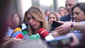 Susana Díaz, esta semana en una comparecencia ante la prensa.