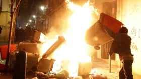 Imagen de los disturbios de Lavapiés.