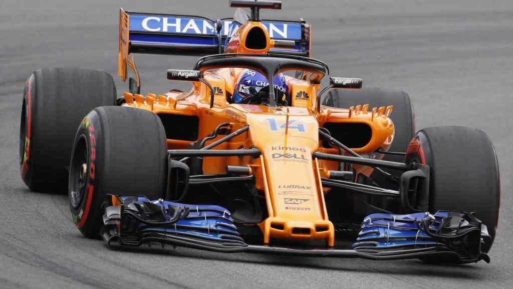 Fernando Alonso, durante el GP de España de F1.
