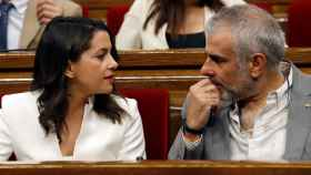 Arrimadas y Carrizosa en un pleno del Parlament
