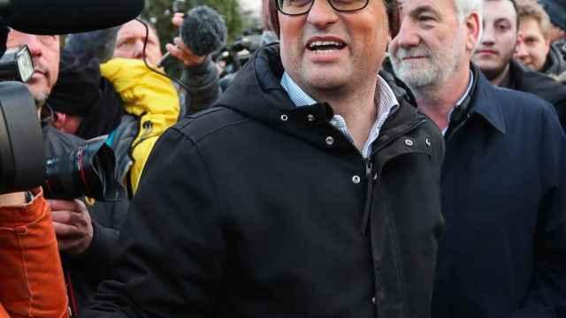 Quim Torra llegando a la cárcel de Neumünster el pasado 26 de marzo