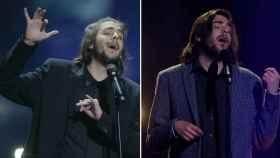 Sobral en Eurovisión en 2017 y en 2018.