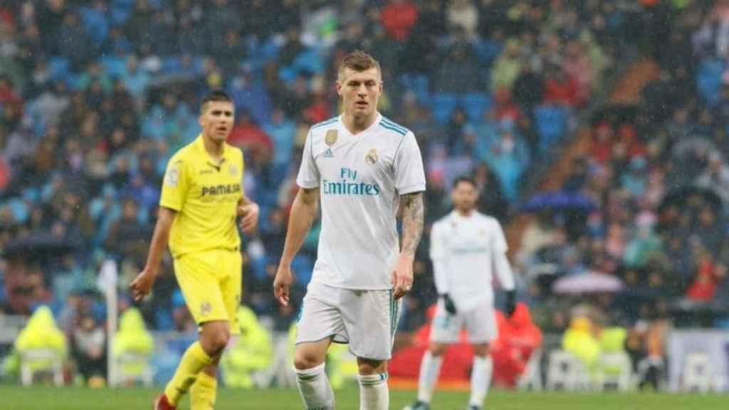 Kroos, en el Real Madrid-Villarreal. Foto: Manu Laya / El Bernabéu