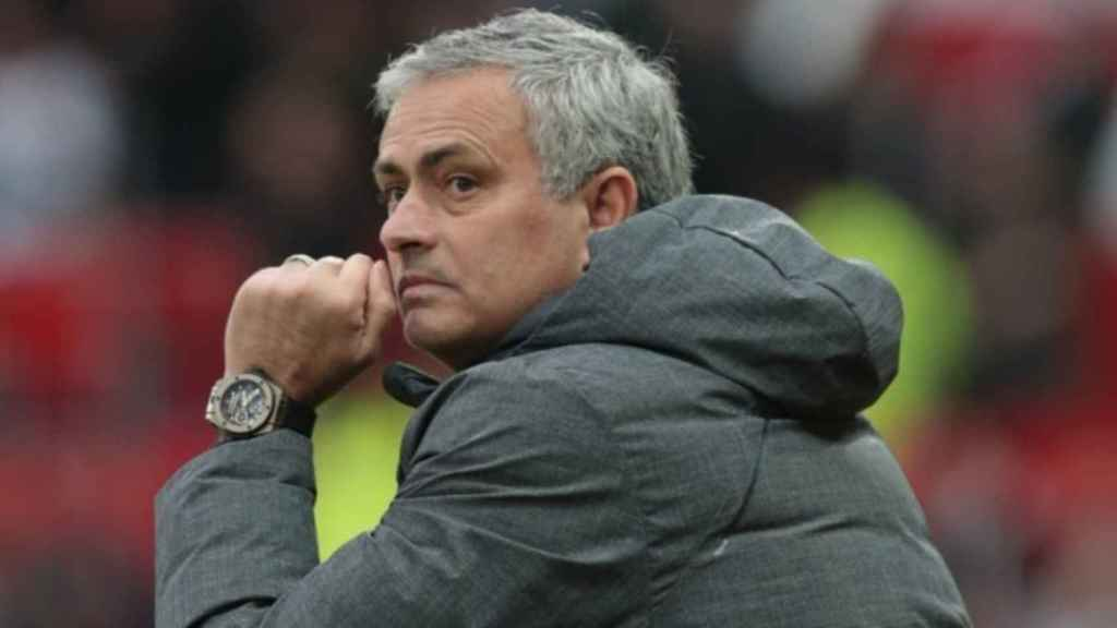 José Mourinho, entrenador del Manchester United. Foto: manutd.com