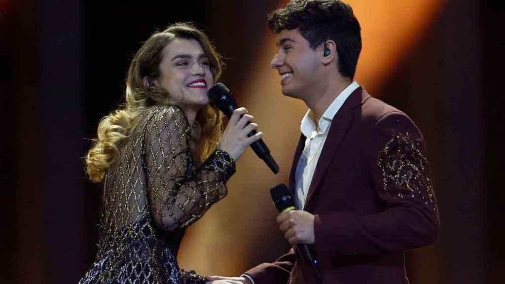 Amaia y Alfred durante la actuación de 'Eurovisión'. Gtres.