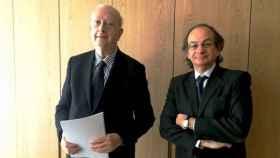 A la izquierda, Juan José Brugera, presidente de Colonial, y Pere Viñolas, CEO, presentan los resultados del primer trimestre de 2018.