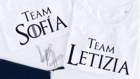 Camisetas de la reina Letizia y Sofía.