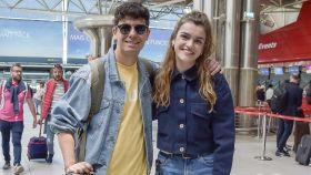 Amaia y Alfred en el aeropuerto de Lisboa.