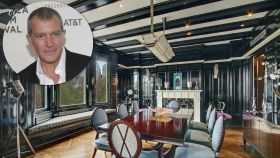 Antonio Banderas en su apartamento en un montaje.