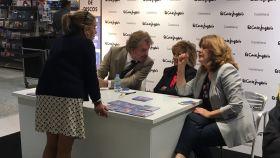 María Teresa Campos, Edmundo Arrocet y Carmen Borrego.