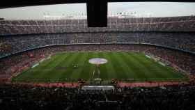 El Camp Nou en un partido del Barça.