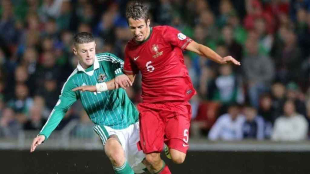 Fabio Coentrao con Portugal. Foto: fpf.pt