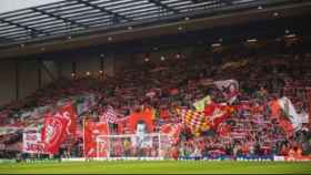 Aficionados del Liverpool en Anfield. Foto: liverpoolfc.com