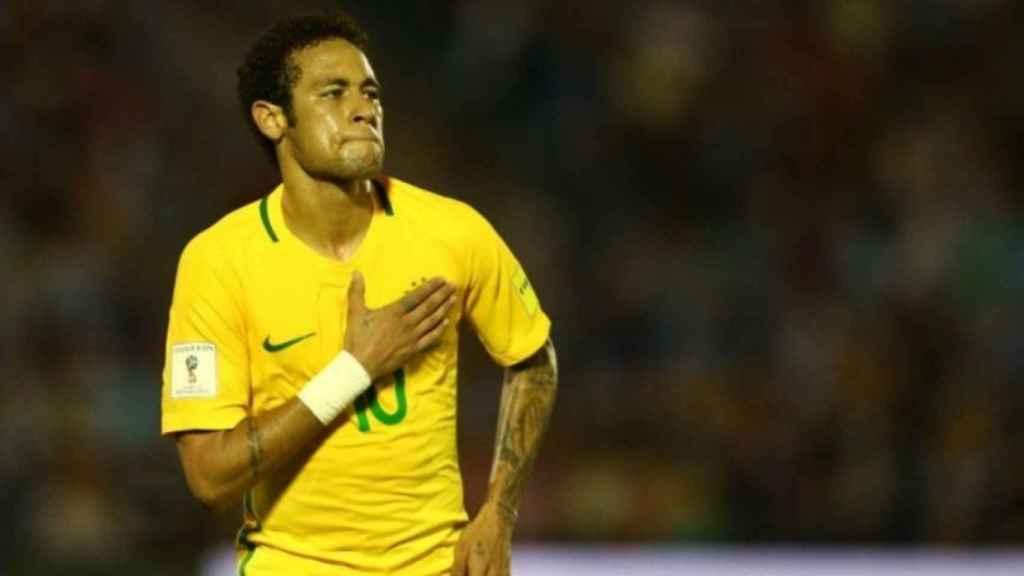 Neymar, con la selección brasileña. Foto: selecao.cbf.com.br