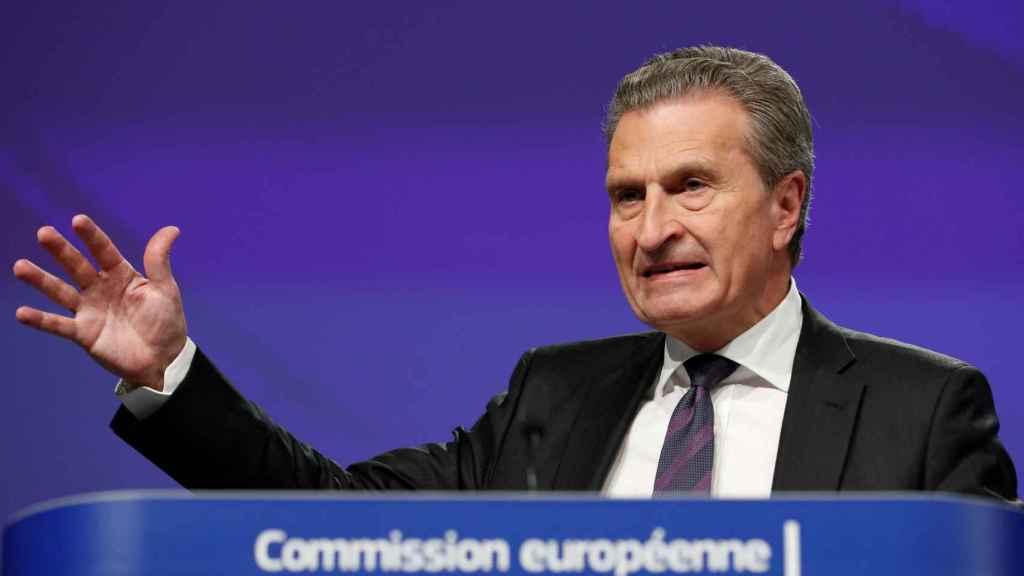 El comisario de Presupuestos, Günther Oettinger