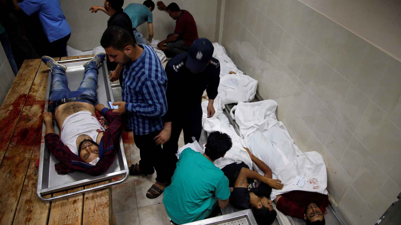 El Ejército israelí abate a tiros a al menos 37 manifestantes palestinos