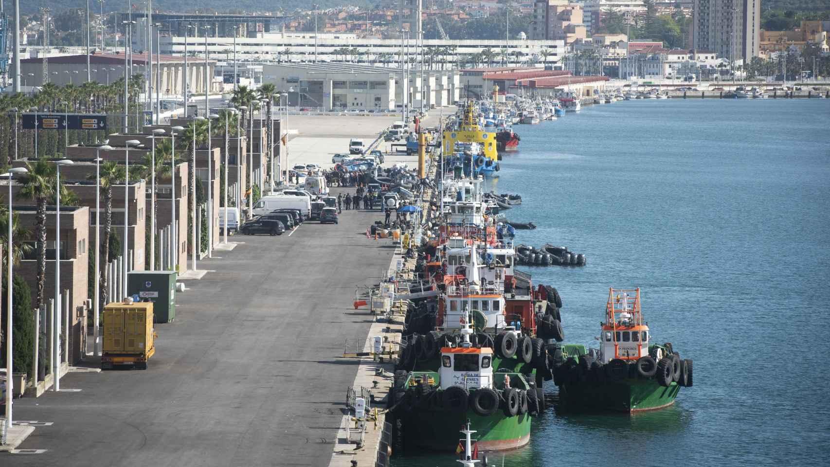 El niño fue trasladado al puerto de Algeciras pero nada pudieron hacer para salvarle la vida. /