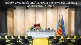 Comparecencia de los líderes catalanes en Alemania.