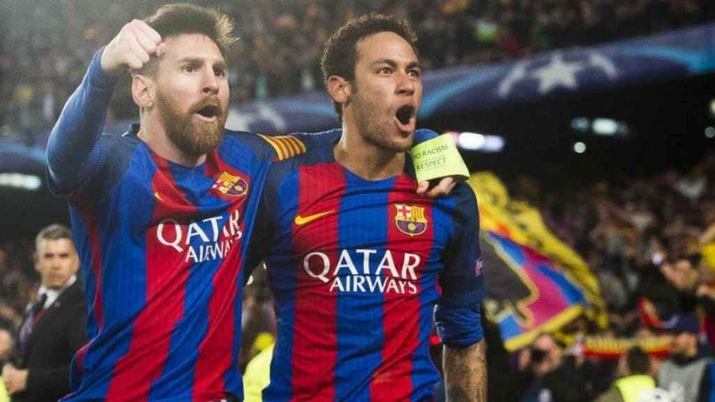 Messi y Neymar, en un partido del Barcelona. Foto. fcbarcelona.es
