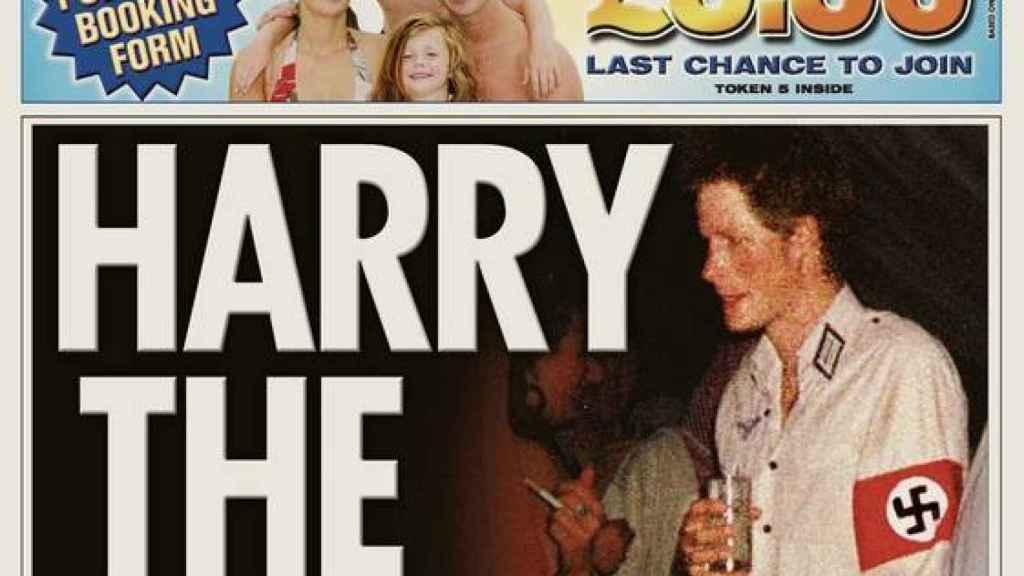 Portada del diario 'The Sun' con el titular: 'Harry , el nazi'.