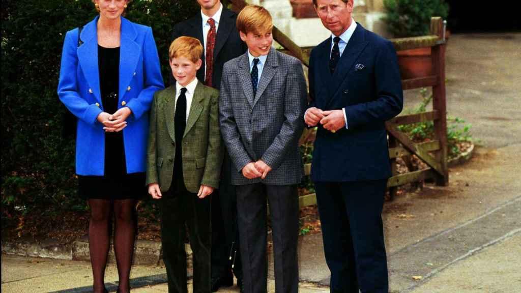 La familia al completo en la década de los 90.