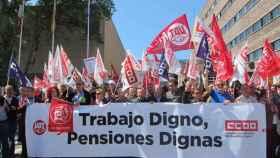 concentracion pensiones ccoo ugt valladolid delegacion gobierno 1