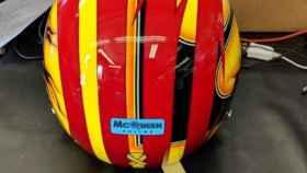 El casco con el que Oriol Servià disputará las 500 Millas de Indianápolis.