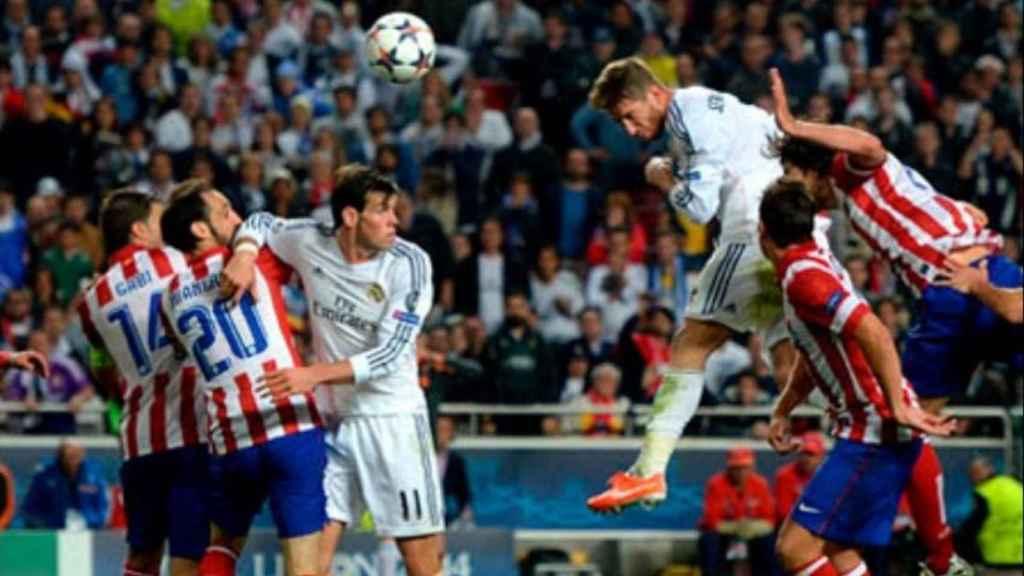 Gol de Sergio Ramos en Lisboa. Foto: realmadrid.com