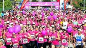 Una carrera contra el cáncer de mama.