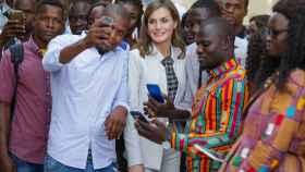 La reina Letizia en Senegal en 2017.