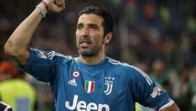 Buffon en uno de sus últimos partidos con la Juventus.