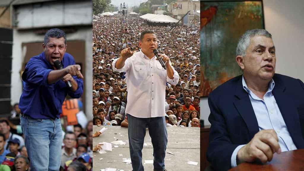Henri Falcóm, Javier Bertucci y Reinaldo Quijada, candidatos a la Presidencia de Venezuela.