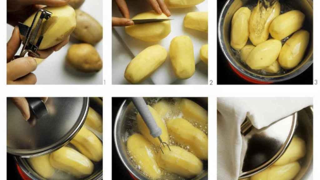 Cómo preparar una patata hervida.