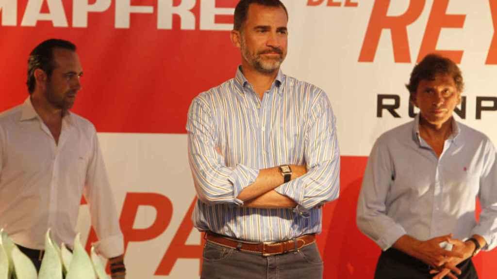 El Rey Felipe VI, solo durante la entrega de premios de la Copa del Rey en el verano de la primera gran crisis