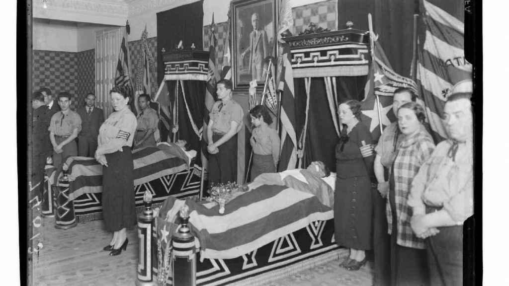 Funeral de los hermanos Badia, que fueron ajusticiados por un anarquista