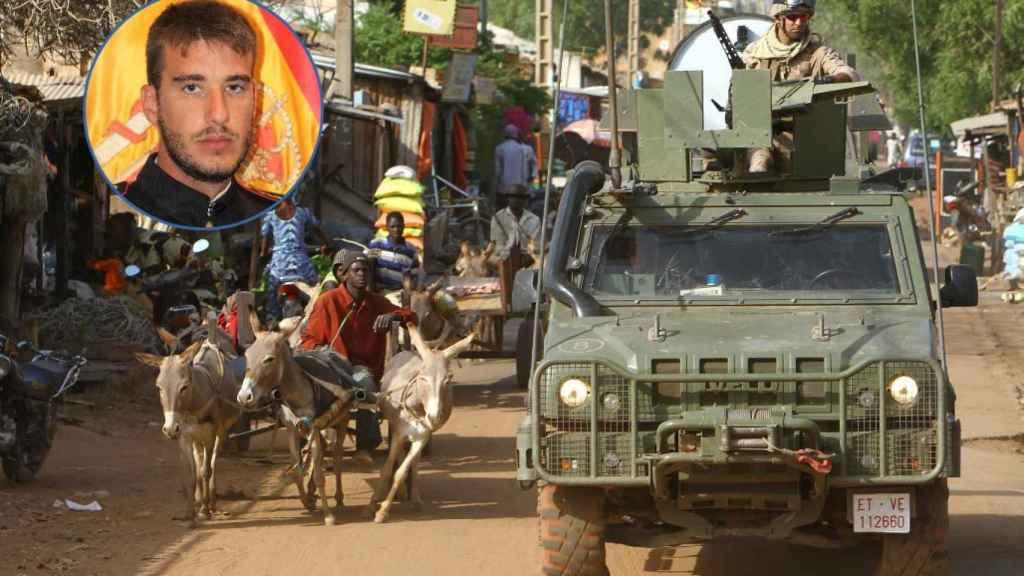 Un vehículo Lince del Ejército español patrulla por una carretera de Mali.
