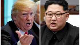 Donald Trump y Kim Jong-un.