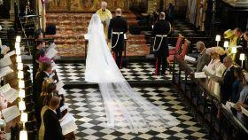Meghan Markle radiante en el día de su boda