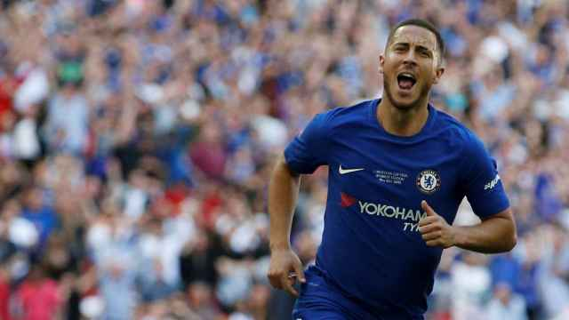Hazard celebra su gol.