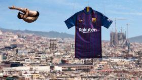 Así quedó al descubierto la nueva equipación del Barça.