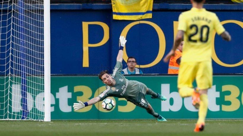Luca Zidane en el partido contra el Villarreal