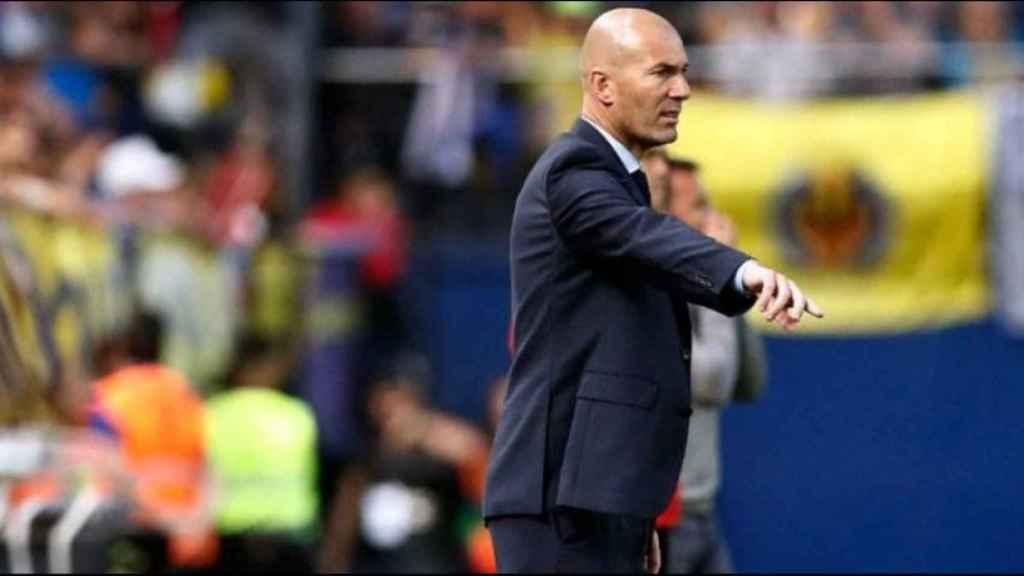 Zidane, en el partido contra el Villarreal