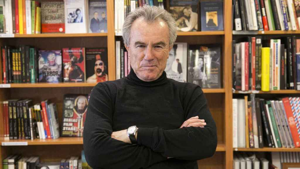 Javier Pérez Royo en la librería Ocho y medio de Madrid.