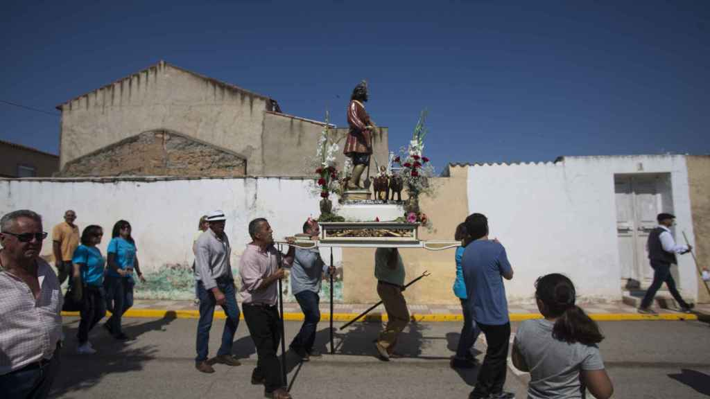 Estampa de la procesión de San Isidro.