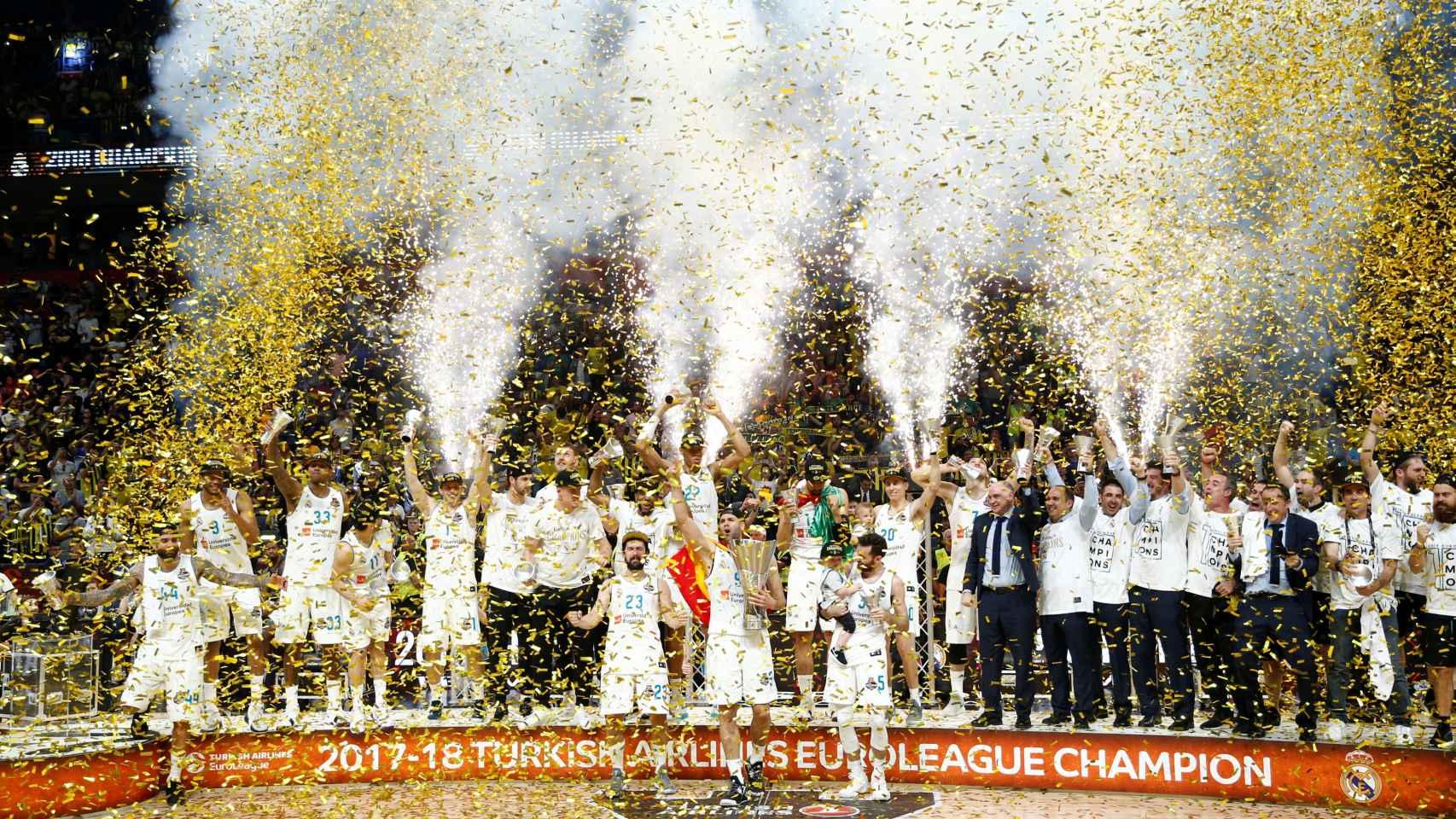 Las mejores imágenes de La Décima del Madrid de baloncesto.