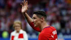 Fernando Torres se despide del Metropolitano.