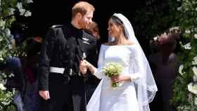 El príncipe Harry y Meghan Markle el día de su boda.